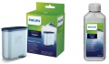 1 x SAECO Philips Aqua Clean + 1 x 250ml Saeco Entkalker Wartungs Set